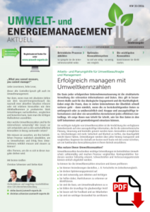 Umwelt und Energiemanagement Umweltkennzahlen