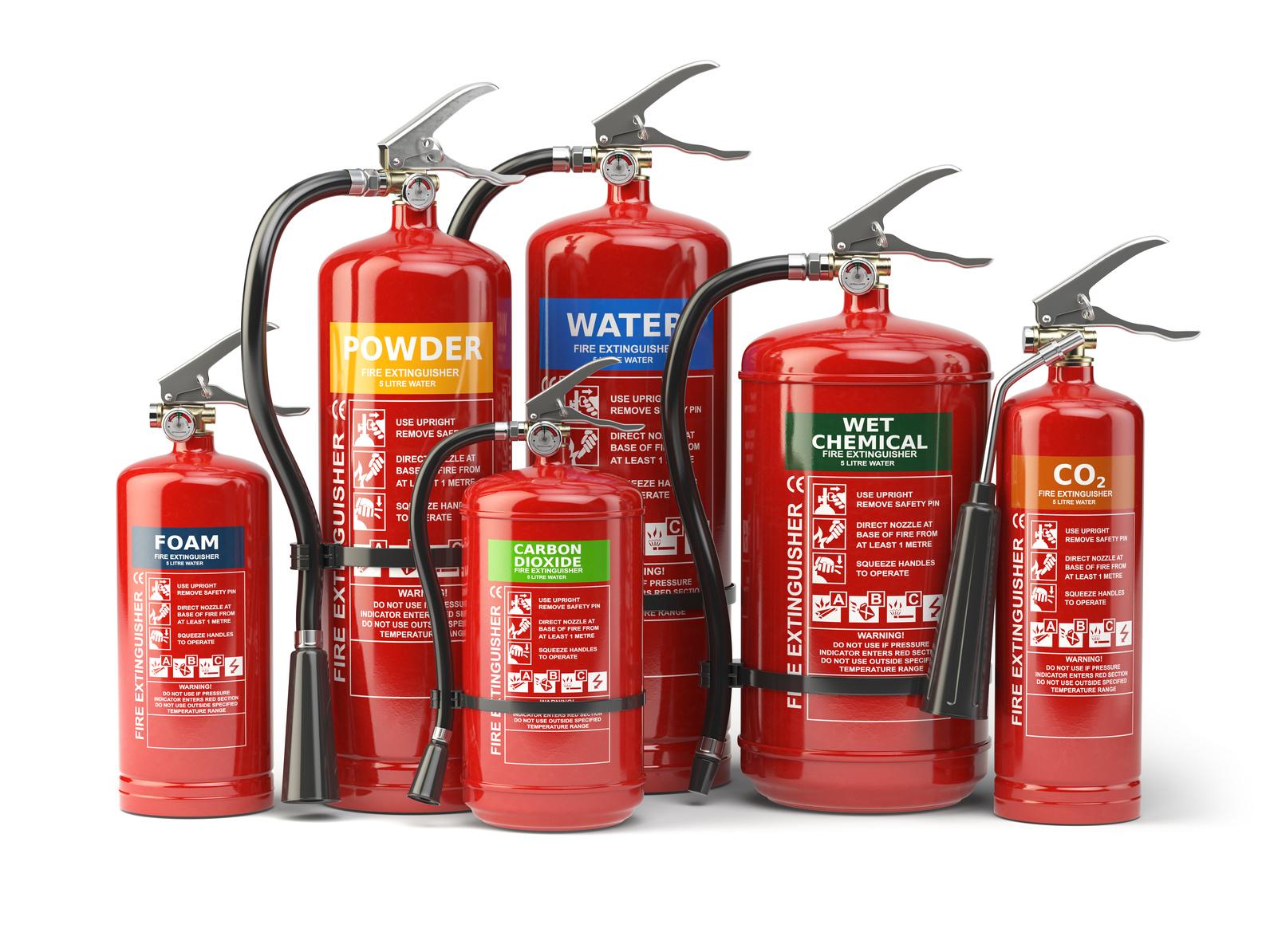 So unterscheiden Sie zwischen den verschiedenen Feuerlöscherarten