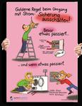 "Poster: ""Goldene Regel beim Umgang mit Strom"""