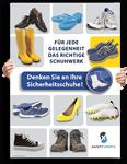 """Poster: """"Denken Sie an Ihre Sicherheitsschuhe"""""""
