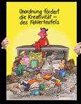 """Poster: """"Unordnung am Arbeitsplatz"""""""