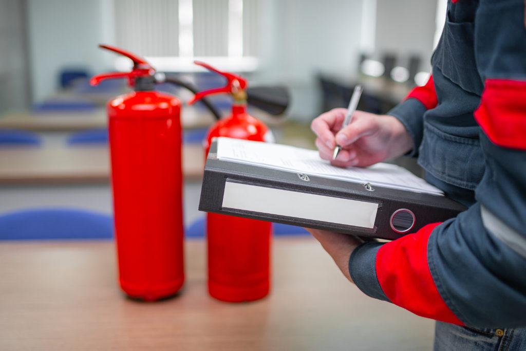 Anforderung, Arbeitsstätten, Feuerlöscher, Sicherheit
