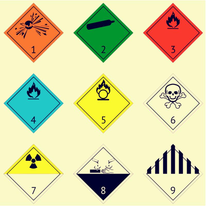 Gefahrgutklassen: Die Zuordnung der Gefahrstoffe zu 9 ADR-Klassen