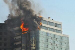 Brandschutz, Brandgefahr im Hochhaus