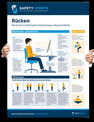 "Poster: ""Rückenübungen"""