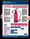 """Poster: """"Feuerlöscher – Was tun, wenn es brennt?"""""""